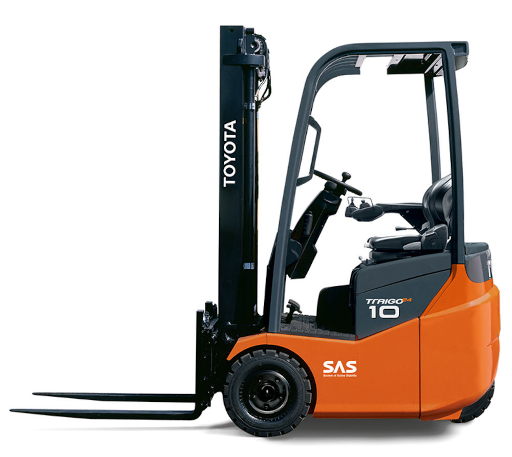 Toyota Traigo 24volt Electric Forklift 3 Wheel 1t Toyota
