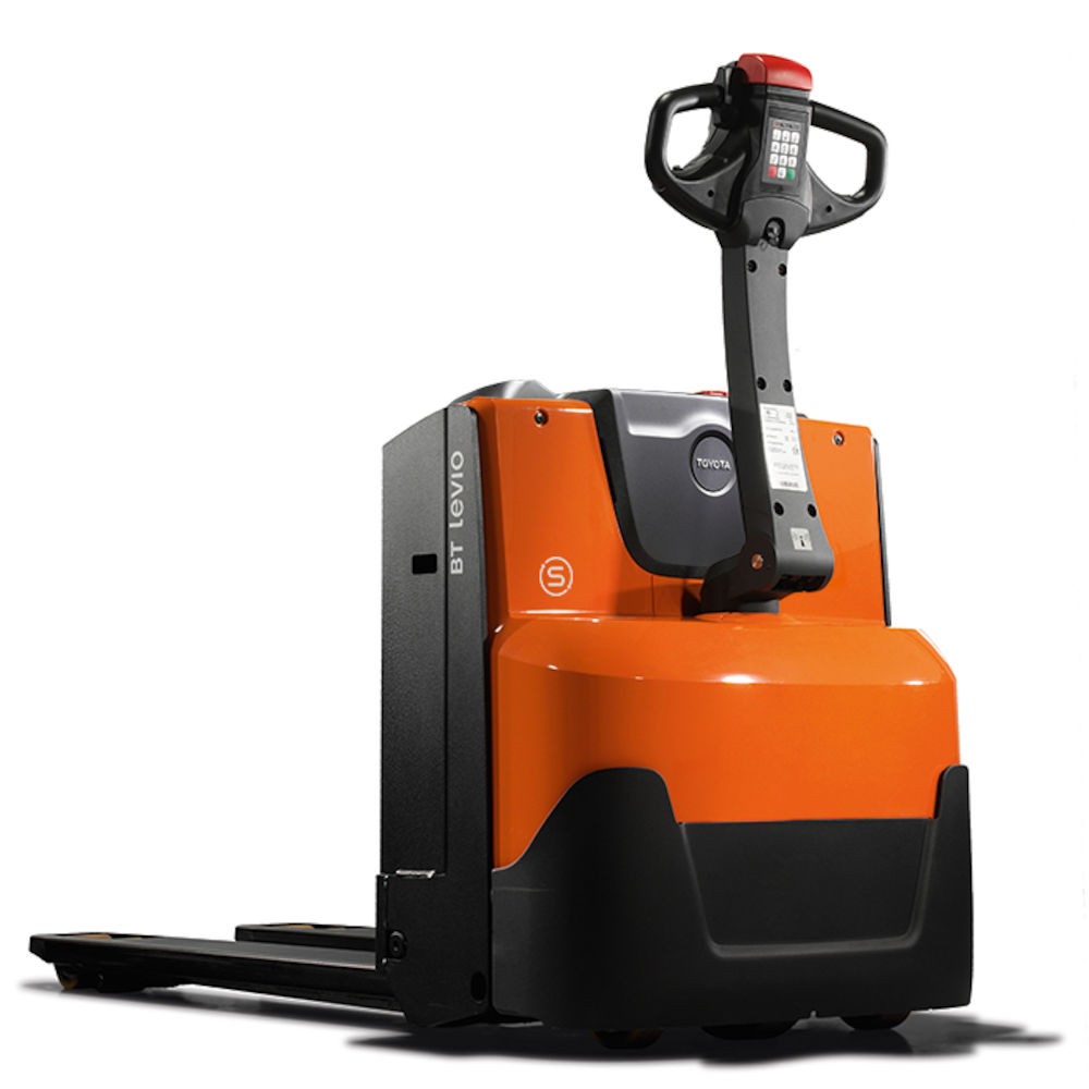 Pin-code access with programmable driver parameters. BT Levio 1.6t Powered  Pallet Truck